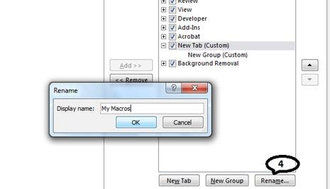 how to add macro ribbon to excel