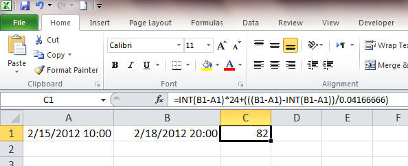 Excel Tip: Calculate Difference in Hours between Two Dates ...